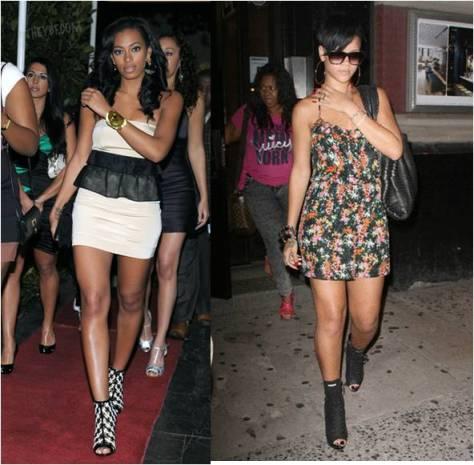 Solange and Rihanna